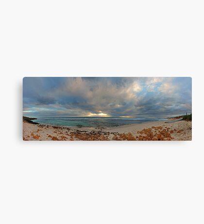 Mettams Pool Beach (Multi Row Panorama)  Canvas Print