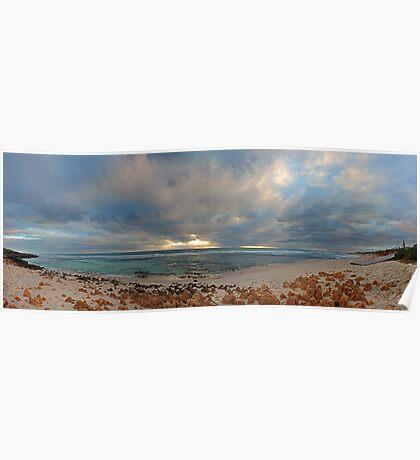 Mettams Pool Beach (Multi Row Panorama)  Poster