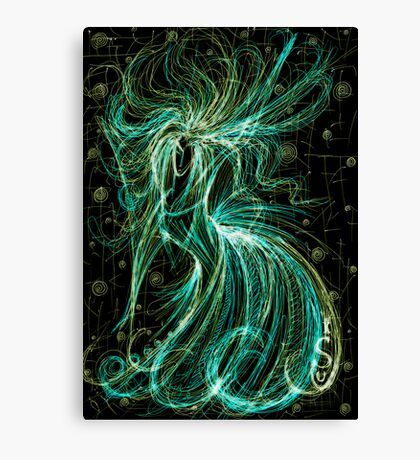 Dansing Witch Canvas Print