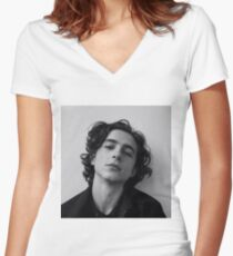 chalamet Women's Fitted V-Neck T-Shirt
