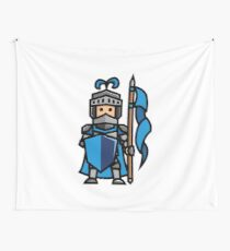 Blue Knight Wall Tapestry