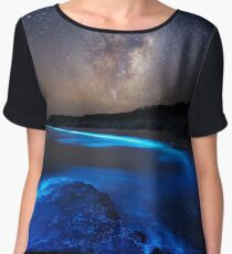 Milky Way Over Sea Sparkle Bay Chiffon Top