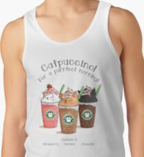 Catpuccino! For a purrfect morning! Tank Top