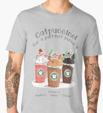 Catpuccino! For a purrfect morning! Men's Premium T-Shirt