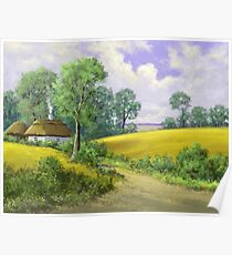 Digital paintings rural landscape. Fine art. Poster