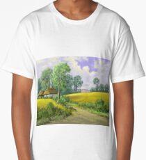 Digital paintings rural landscape. Fine art. Long T-Shirt