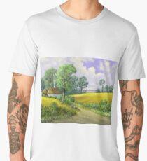 Digital paintings rural landscape. Fine art. Men's Premium T-Shirt