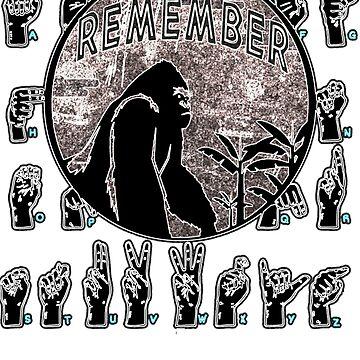 Sign Language Speaking Gorilla Memorial Shirt by merchhost