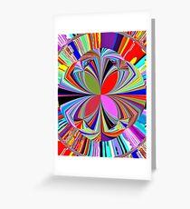 Bright Vivid Abstract Greeting Card