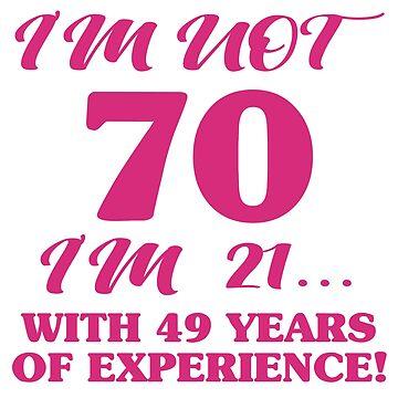 Funny 70th Birthday by thepixelgarden