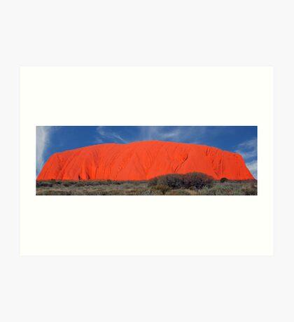 The Colours of Uluru, Northern Territory, Australia Art Print