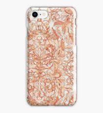 Autumn Peach Art Nouveau Pattern iPhone Case/Skin