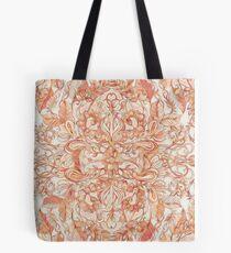 Autumn Peach Art Nouveau Pattern Tote Bag