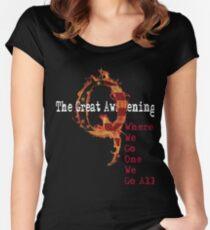 QAnon Storm The Great Awakening WWG1WGA by Scralandore Women's Fitted Scoop T-Shirt