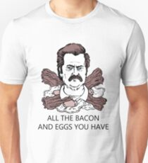 Ron Swanson Bacon And Eggs Unisex T-Shirt