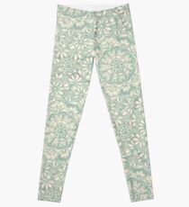 Sage Medallion with Butterflies & Daisy Chains Leggings