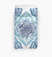 Indian Ink - in blues Duvet Cover