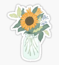 Sunflower in Jar Sticker