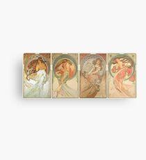 HD. The Arts (1898) serie Alphonse Mucha - HIGH DEFINITION Metal Print