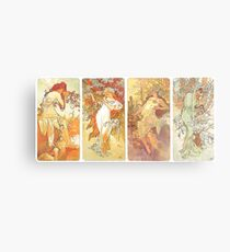 HD. The seasons (1898) serie Alphonse Mucha - HIGH DEFINITION Metal Print
