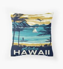 Vintage poster - Hawaii Throw Pillow