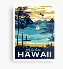 Lienzo metálico Cartel vintage - Hawaii