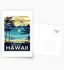 Weinleseplakat - Hawaii Postkarten