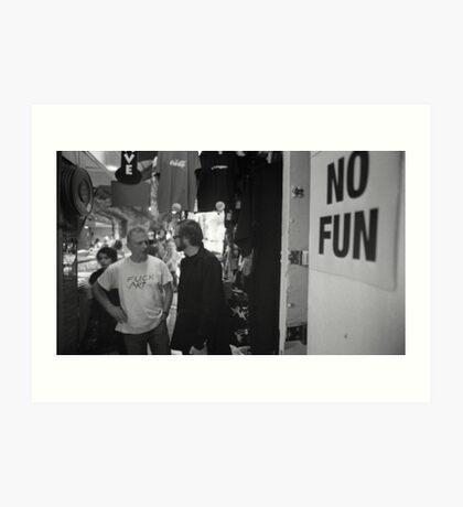 No Fun Zone Art Print