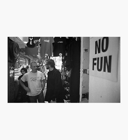 No Fun Zone Photographic Print