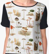 Dorothy Noble Mushroom Pattern Chiffon Top