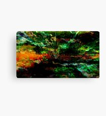 Abstract colorful nature landscape illustration  Canvas Print