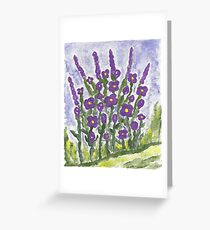 Painted Purple Greeting Card