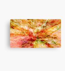 Abstract colorful nature landscape flower bloom rocks illustration  Canvas Print