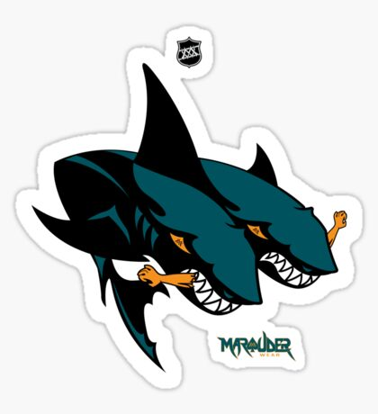 The 2 Headed Sharks From San Jose Sticker