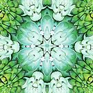 Green Succulent Mandala by julieerindesign