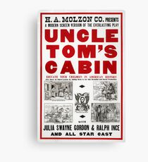 Uncle Tom's Cabin - Film Adaptation Promotion Poster Canvas Print