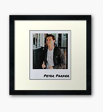 Peter Parker Polaroid Edit (1) Framed Print