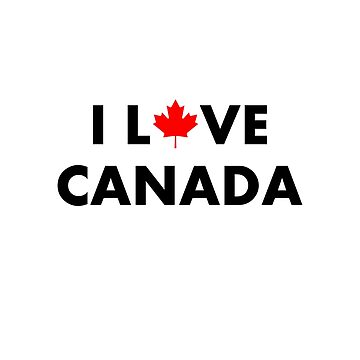 I Love Canada I Heart Canada With Maple Leaf Light-Color by TinyStarCanada