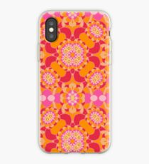 abstract colorful art flowers seamless repeat pattern iPhone Case