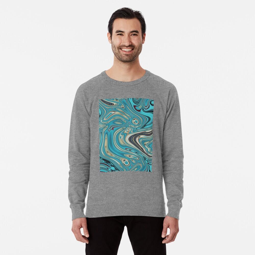 abstrakter Strandmarmormuster aquamariner Türkis wirbelt Leichter Pullover