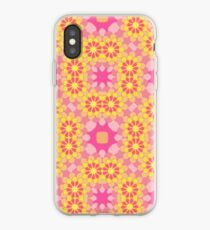 floral pattern art colorful seamless repeat iPhone Case