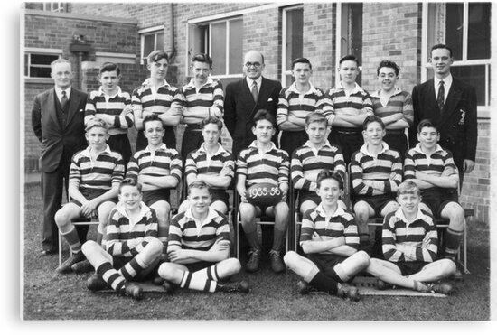 School Rugby Team 1955-56 Sheffield. by Trevor Kersley
