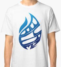 Blue Flames (White) Classic T-Shirt