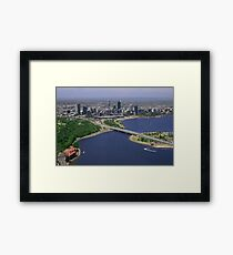 Perth From Above Framed Print