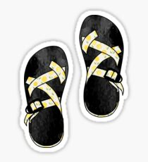 Yellow Floral Chacos Sticker