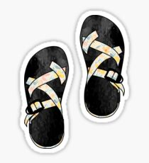 Peach Floral Chacos Sticker