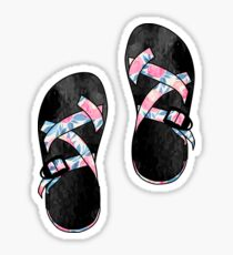 Pink Floral Chacos Sticker