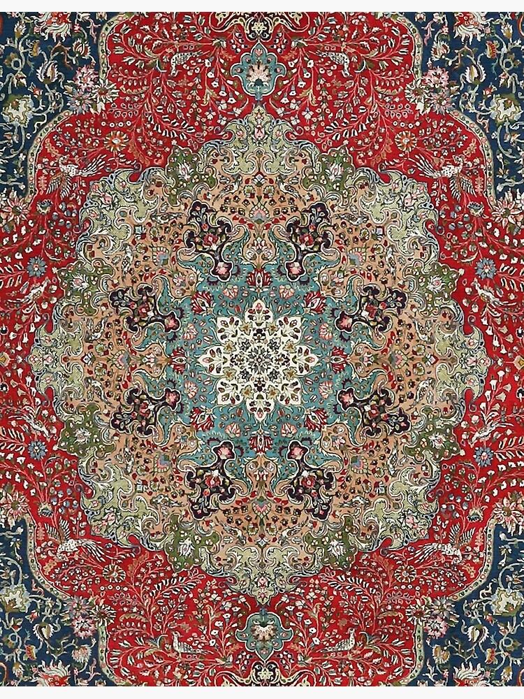 Alfombra persa antigua de la vendimia de bragova