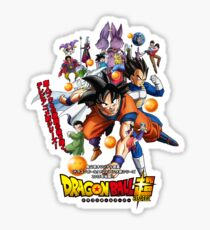 Dragon Ball Super Goku Vegeta Krillin Whis Beerus Sticker