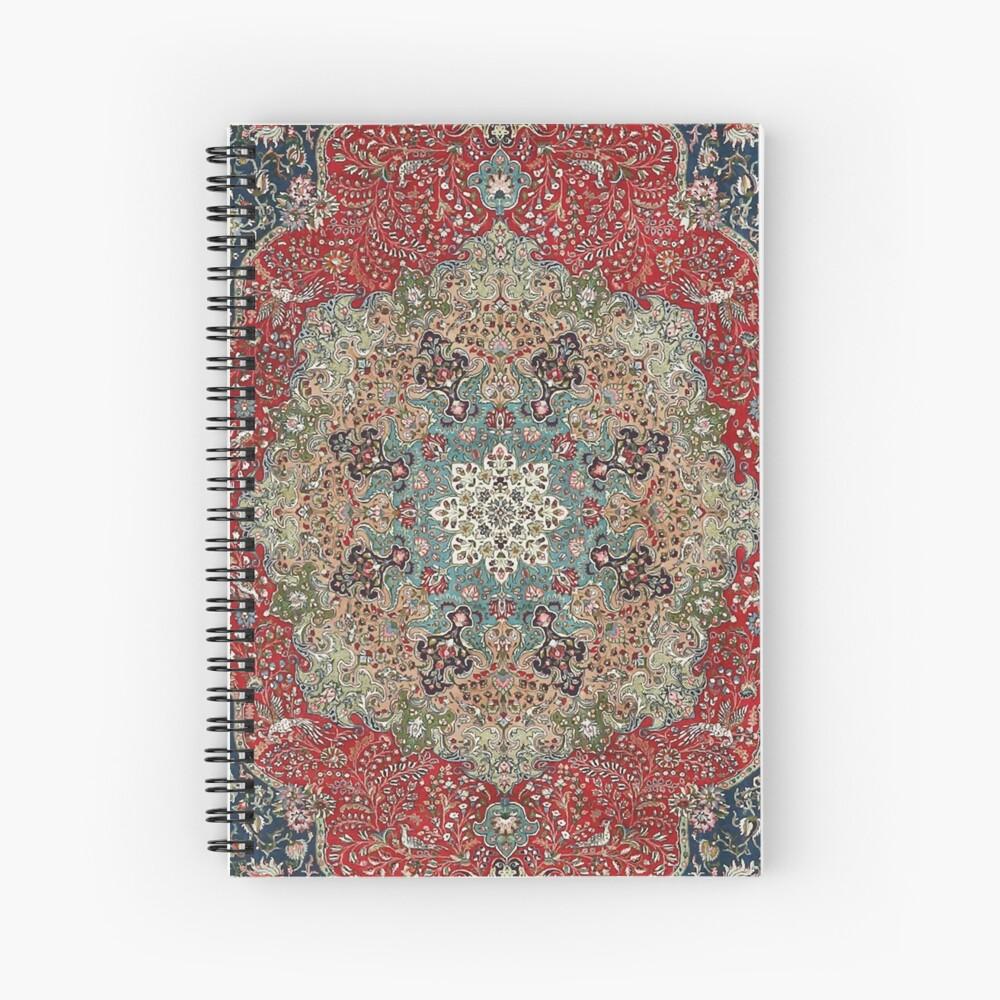 Alfombra persa antigua de la vendimia Cuaderno de espiral